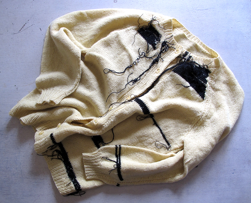 Bridget Harvey  Yellow Cardigan
